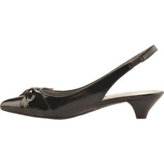 Womens Anne Klein Pansy Black Synthetic