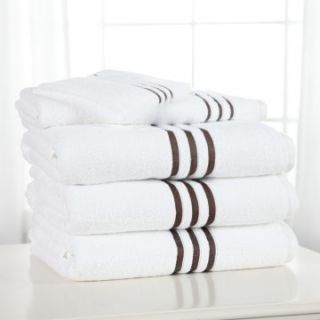 Divatex Poly Border Low Twist 100% Cotton 6 Piece Bath Towel Set