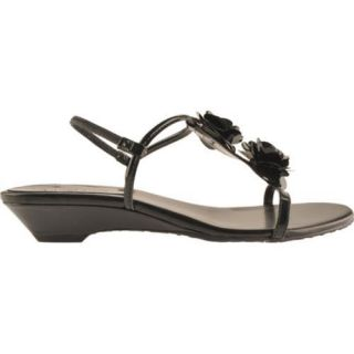 Womens Anne Klein Ziti Black Synthetic