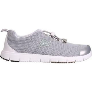 Womens Propet Travel Walker II Silver Mesh