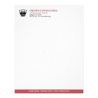 red stripe custom logo professional custom letterhead