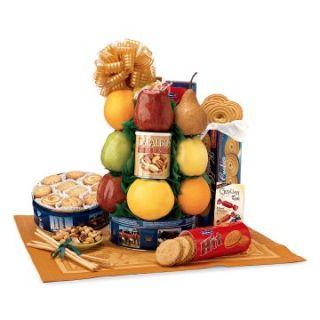 Fruit & Cookie Deluxe Gift Tower   Fruit