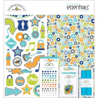 Doodlebug Boys Only Essentials Page Kit