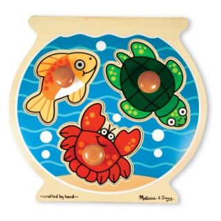 Melissa and Doug Jumbo Knob Puzzle Set   Animals   Set of 4   Kids