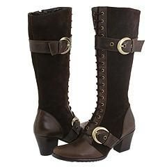 Type Z Sade Brown Cow Suede/Waxed Wrinkle Calf Boots