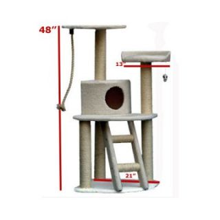 Majestic Pet 48 in. Bungalow Sherpa Cat Tree   Cat Trees