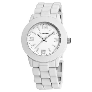 Vernier Womens Simple Beauty Basic Soft Touch Matte White Watch