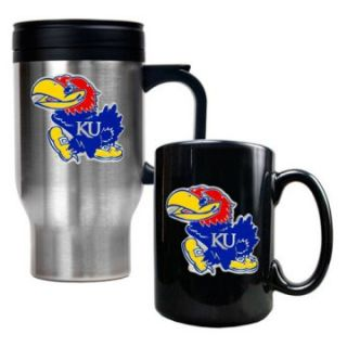 Great American NCAA Travel and Ceramic Mug Set   Kitchen & Dining at