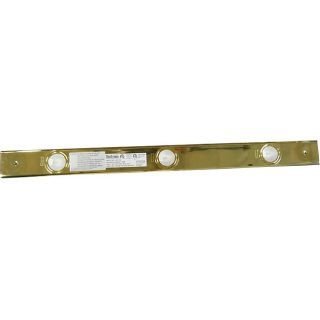 Three Light Polished Brass Halogen Strip Light