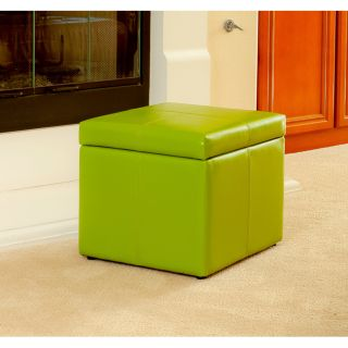 Square Lime Green Cube Storage Ottoman