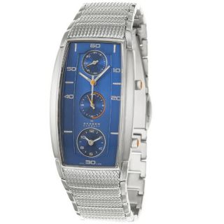 Skagen Mens Sport Stainless Steel Blue Dial Quartz Watch