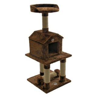 Go Pet Club Cat Tree Furniture 45 in. High   Brown   Cat Trees at