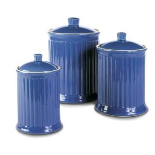 Omni Simsbury Canisters   Set of 3   Blue   Kitchen Canisters at