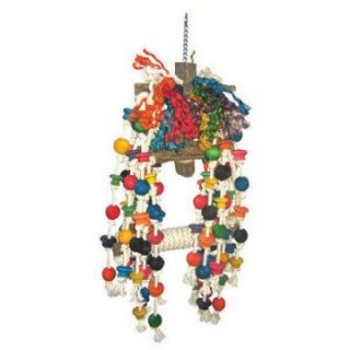 Medium Beaded Rope Swing with Knots Bird Toy   Bird Cage Accessories