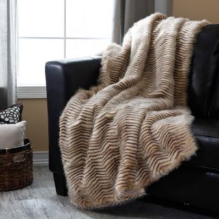 Signature Series Oversized Tan Herringbone Throw   Blankets at