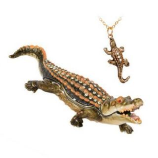 Allie Gator Trinket Box   Trinket Boxes