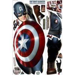 RoomMates Captain America Peel and Stick Giant Wall Decal