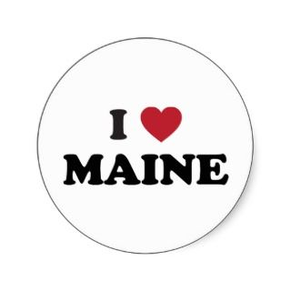 Maine Stickers, Maine Sticker Designs