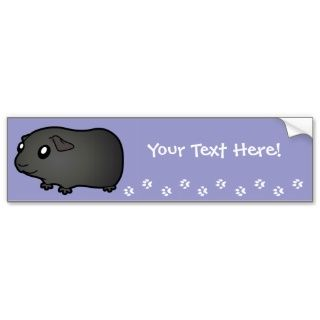 Cartoon Guinea Pig (black) bumper stickers by SugarVsSpice