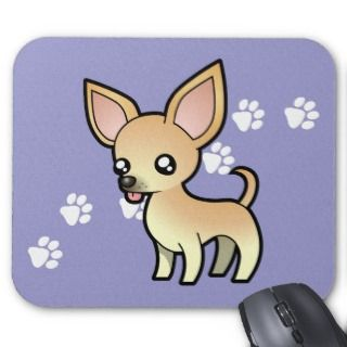 Cartoon Chihuahua (fawn smooth coat) mousepads by SugarVsSpice