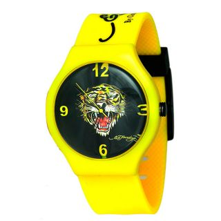 Ed Hardy Mens Spectrum Yellow Watch