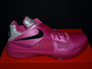 2012 Nike Zoom KD IV Aunt Pearl Kay YOW Breast Cancer US 8 5 9 5 Pink