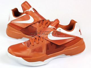 Nike Zoom KD IV 4 Durant Texas Longhorn PE Desert Orange White 2012