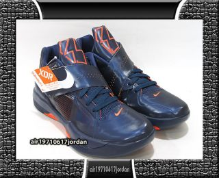 2012 Nike Zoom KD IV x Midnight Blue Navy White Team Orange Teamor US