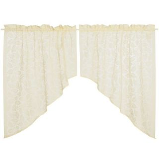 Commonwealth Home Fashions Isabella Lace Curtain Swag Pairs   80x36