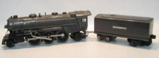 1938 41 Pre War Lionel 224E Steam Engine w Orig Sheet Metal Tender Car