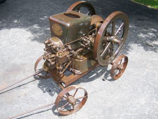 Early 3hp Fairbanks Morse Z Ignitor Hit Miss Gas Engine Cart Steam