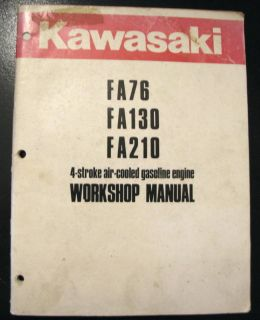 Kawasaki FA76 FA130 FA210 Gas Engine Workshop Manual