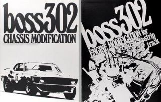 Mustang Boss 302 Drag Racing Manual Set Chassis Engine Modifications