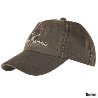 Oil Cloth Logo Cap with Deer Skull Embroidery