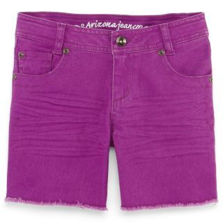 Arizona Mid Thigh Frayed Jean Shorts   Girls 7 16 customer