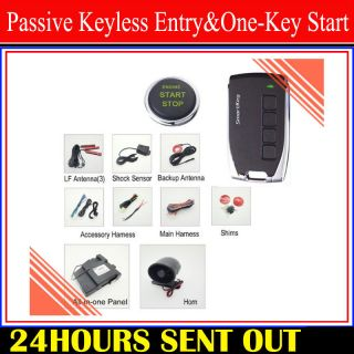 Button Star Engine Car Security Alarm Auto Remote Passive Keyless