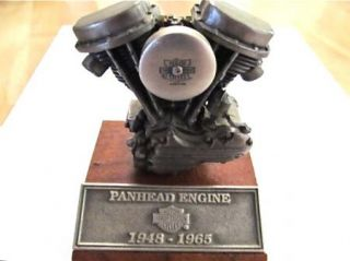 Harley Davidson Panhead Engine Pewter Replica Limited Edition 9789 of