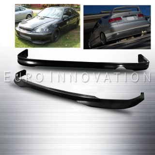 99 00 Civic 2/4D Front/Rear Bumper Lip Spoiler Body Kit ABS Black Type