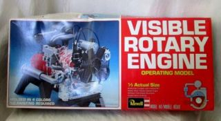 1980 Revell Visible Rotary Engine Model Kit H913 1 3 Actual Size NIP