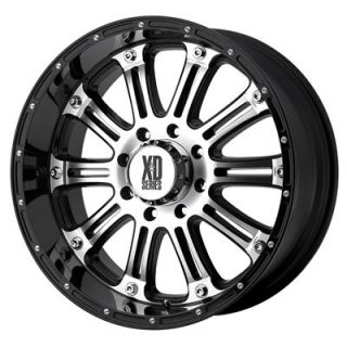 KMC XD795 Hoss Gloss Black Machined Wheel 17x9 8x6 5