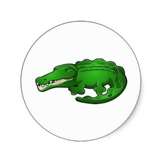 Ein niedlicher Alligator oder Krokodil Cartoon Cha Sticker