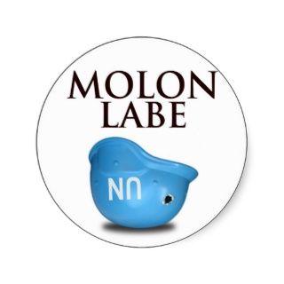 Molon Labe Runder Aufkleber